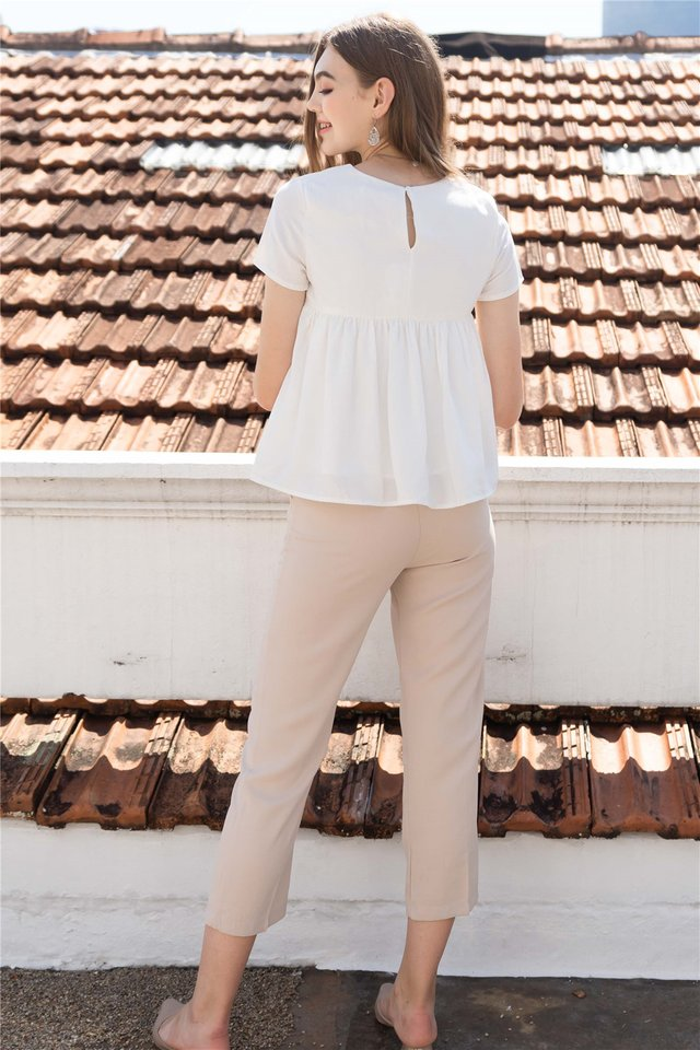 ACW Babydoll Sleeve Top in White