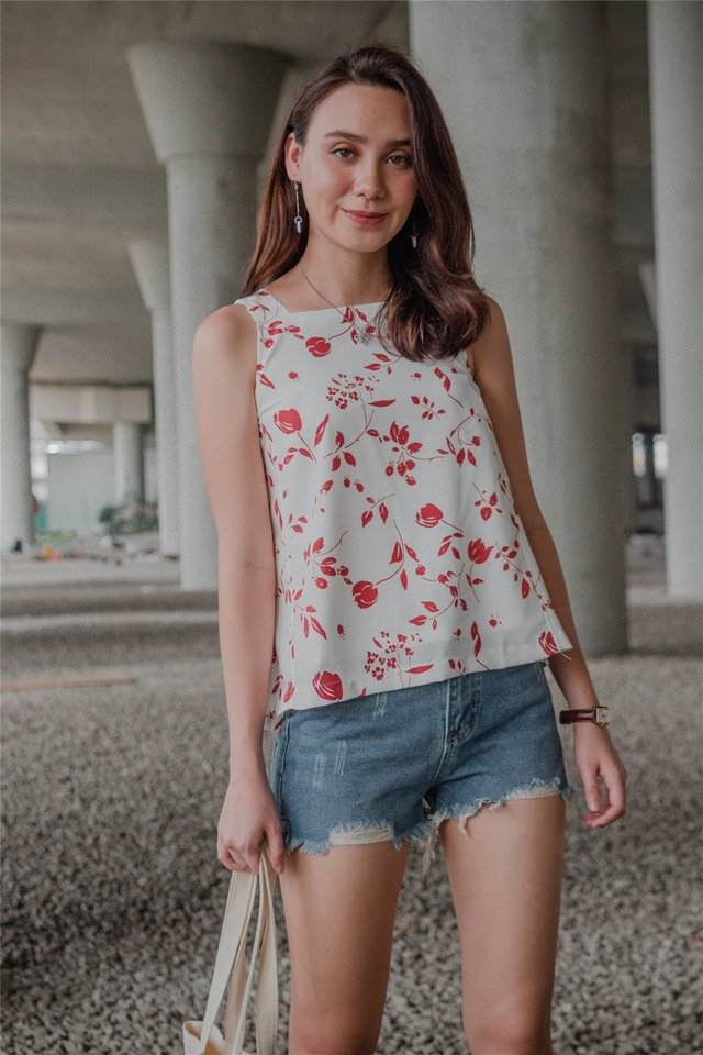 ACW Botanical Prints Cut In Top in Wine