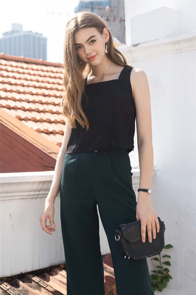 ACW Basic Square Neck Top in Black