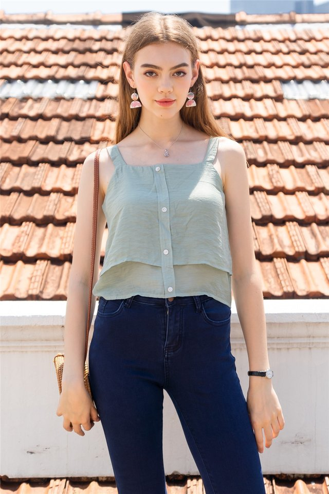 ACW Double Tiered Top in Matcha
