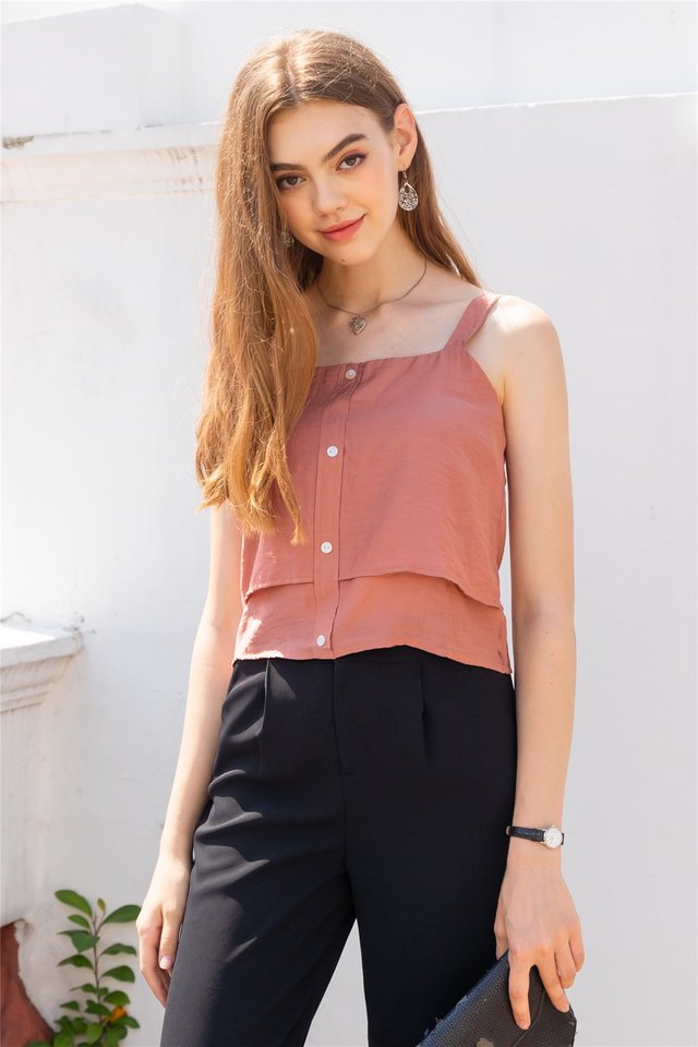 ACW Double Tiered Top in Rust