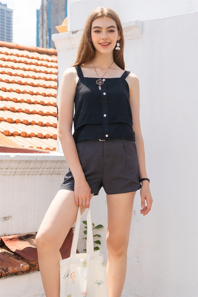 ACW Double Tiered Top in Black