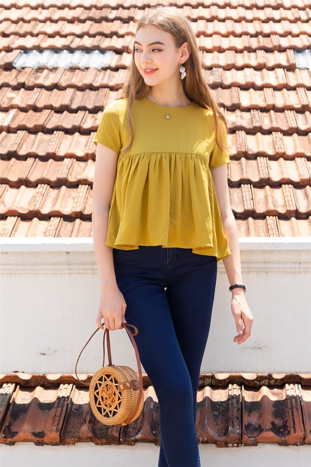 ACW Babydoll Sleeve Top in Daffodil