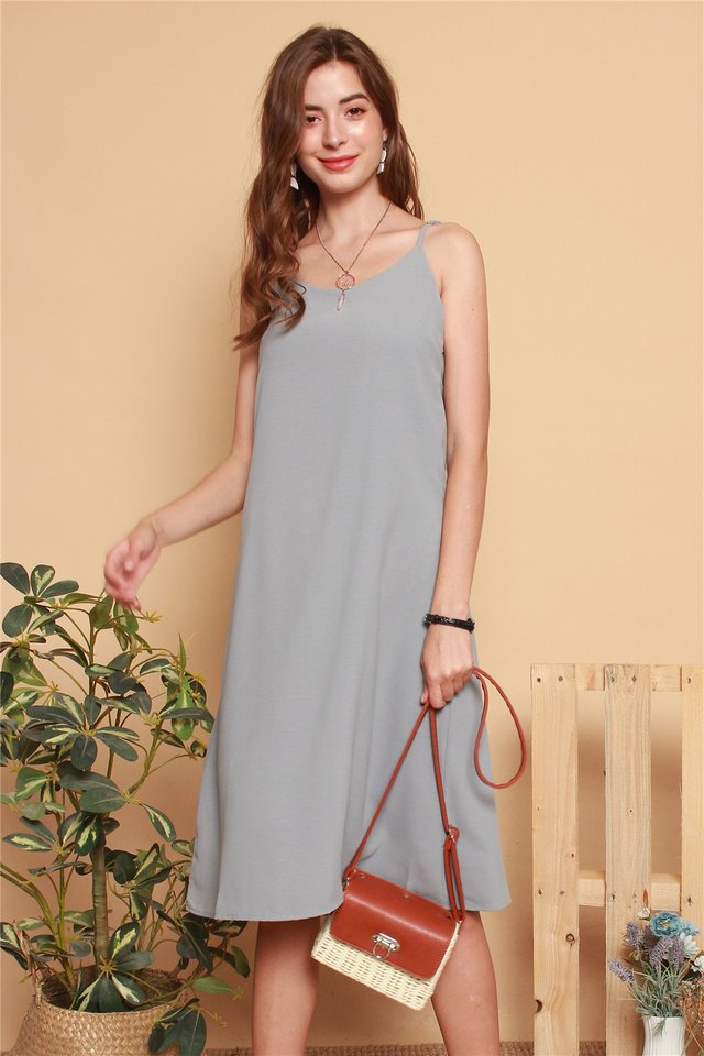 ACW Basic Midi Slip Dress in Grey