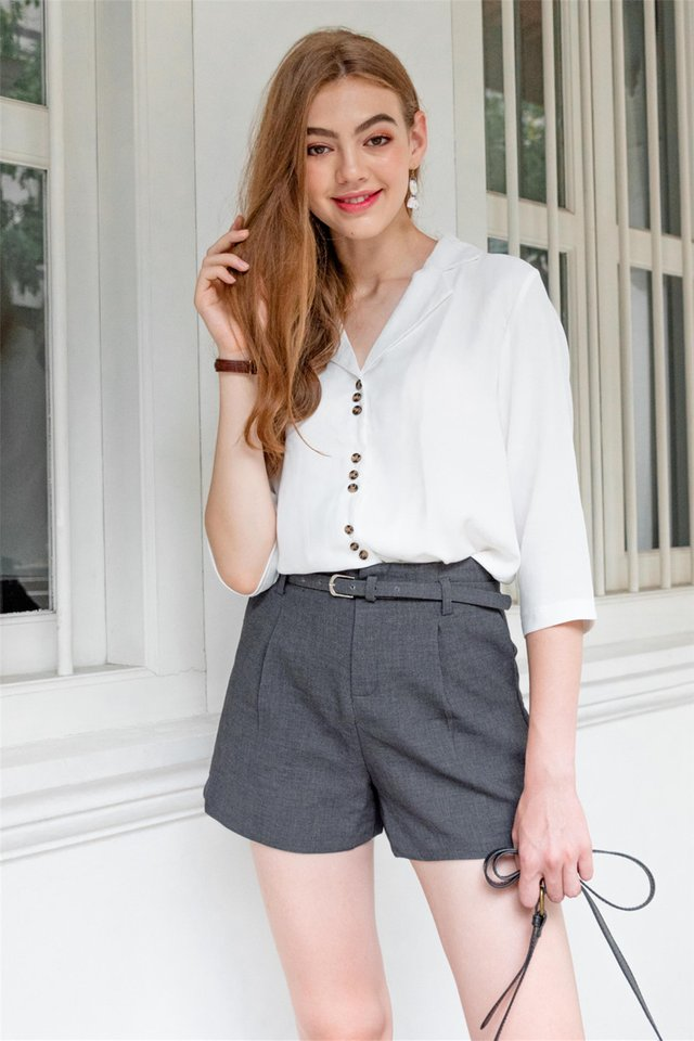 Button Down Slouchy Oversized Shirt in White