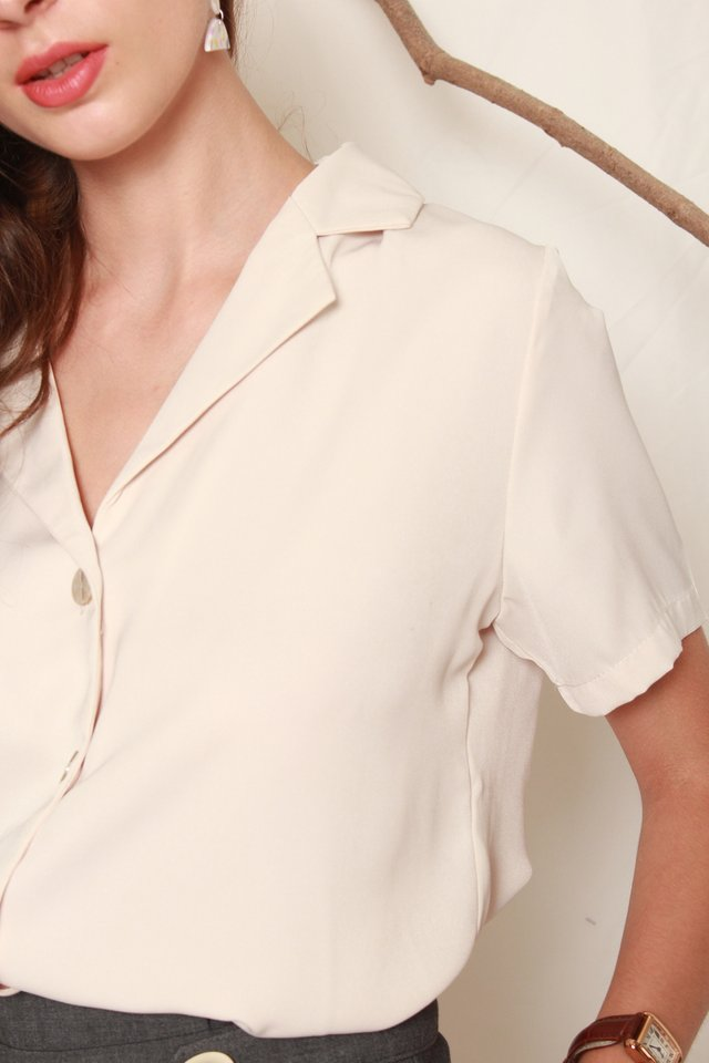 ACW Camp Collar Shirt in Sand