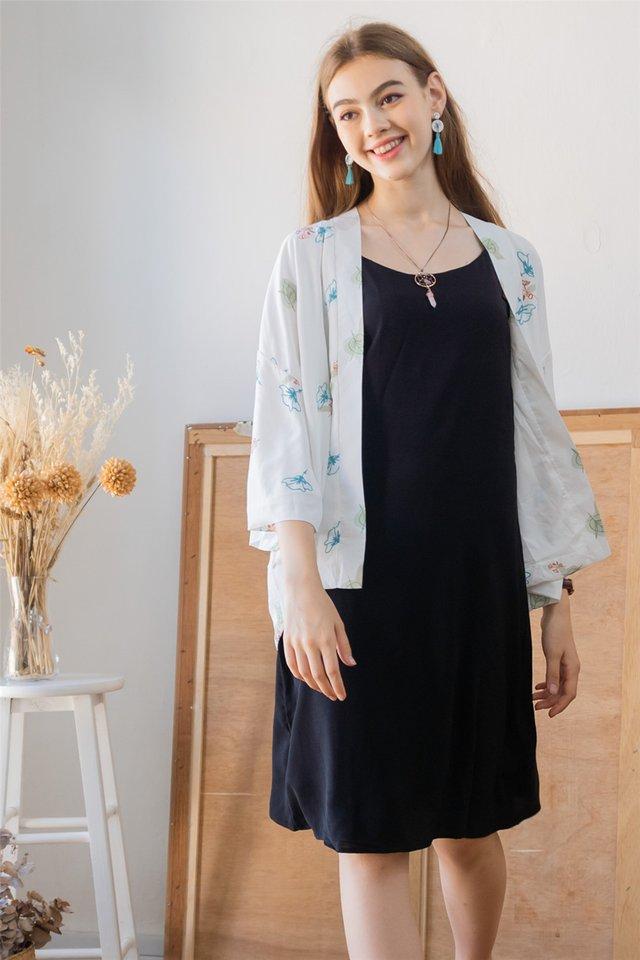 ACW Autumn Floral Kimono in White