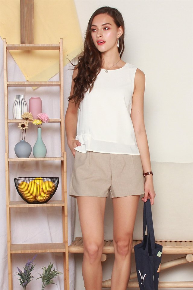 ACW Frill Shell Top in White