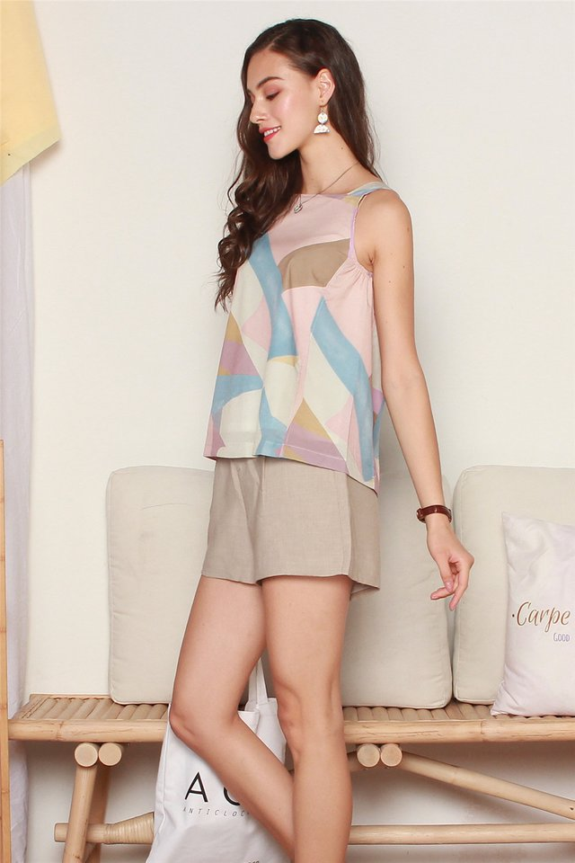 ACW Abstract Shapes Cut In Top in Dusty Pink