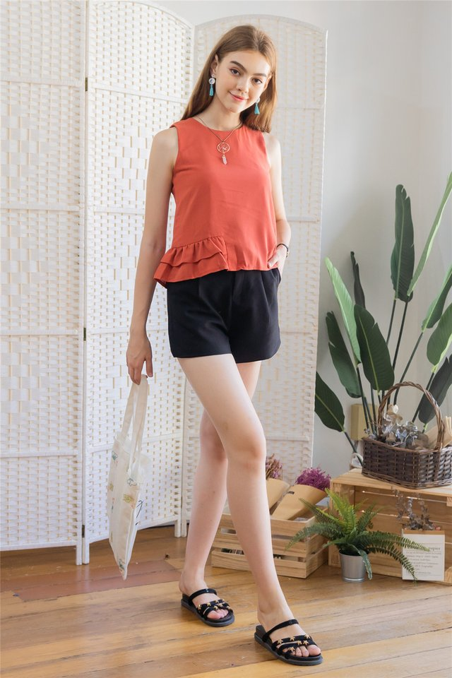 ACW Frill Shell Top in Rust
