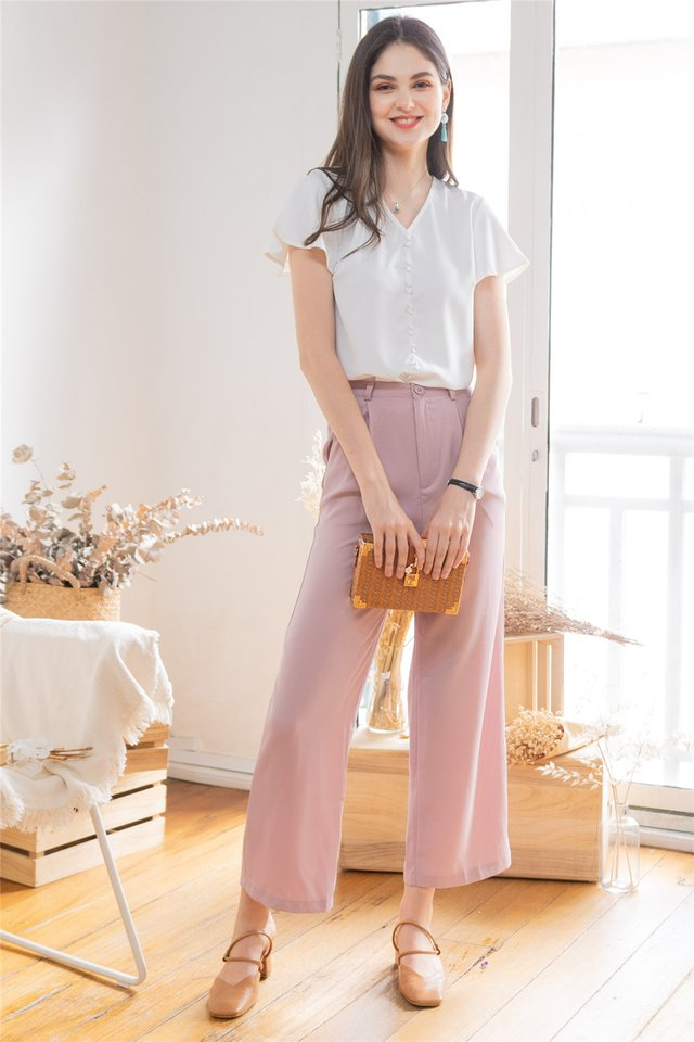 ACW High Waisted Flare Pants in Dusty Pink