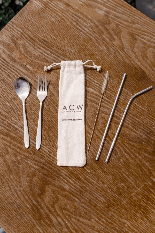 *Season of Giving* ACW Metal Straw & Cutlery Set