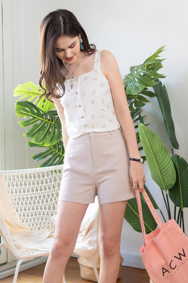 *Backorder* High Waisted Pocket Shorts in Sand