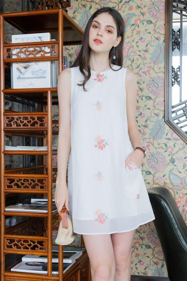 ACW Pastel Roses Chiffon Trapeze Dress