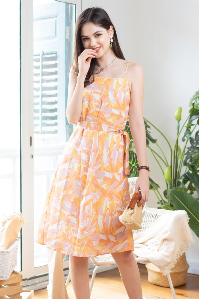 ACW Sparks of Joy Midi Dress in Orange