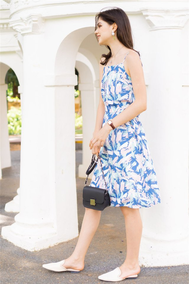 ACW Sparks of Joy Midi Dress in Blue