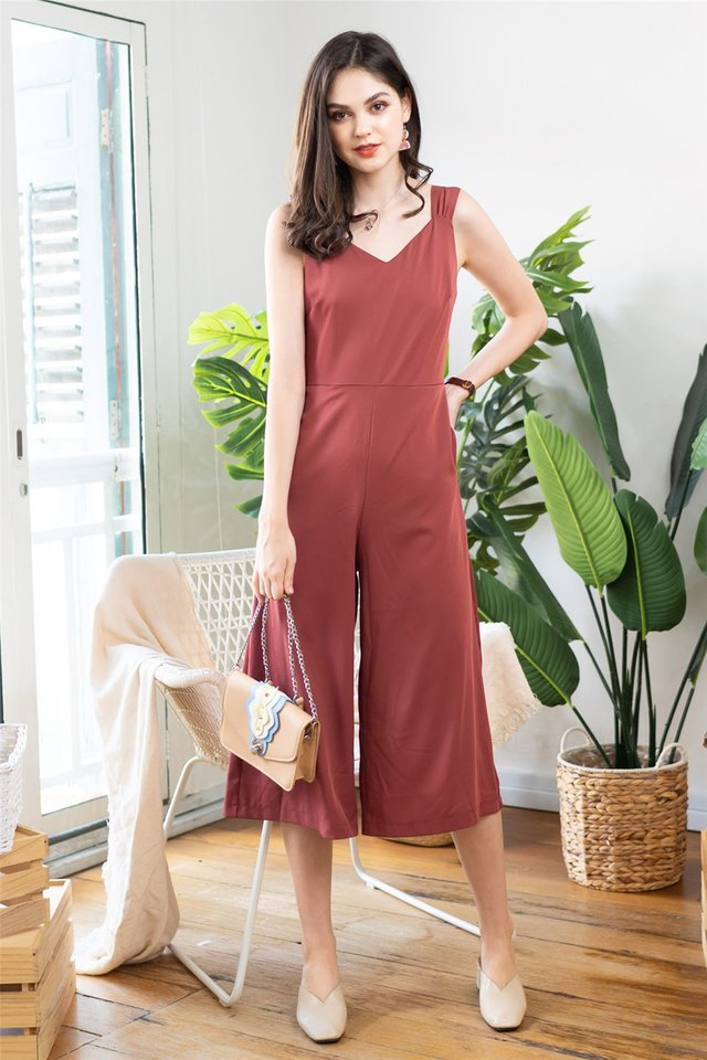 Twist Strap Jumpsuit in Tea Rose