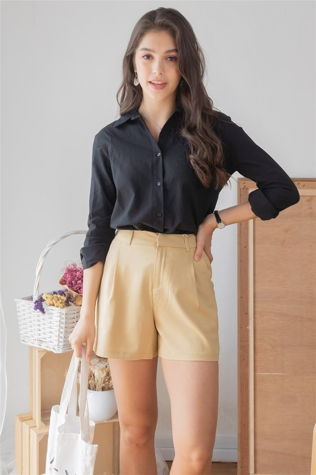 ACW Button Down Loose Fit Shirt in Black