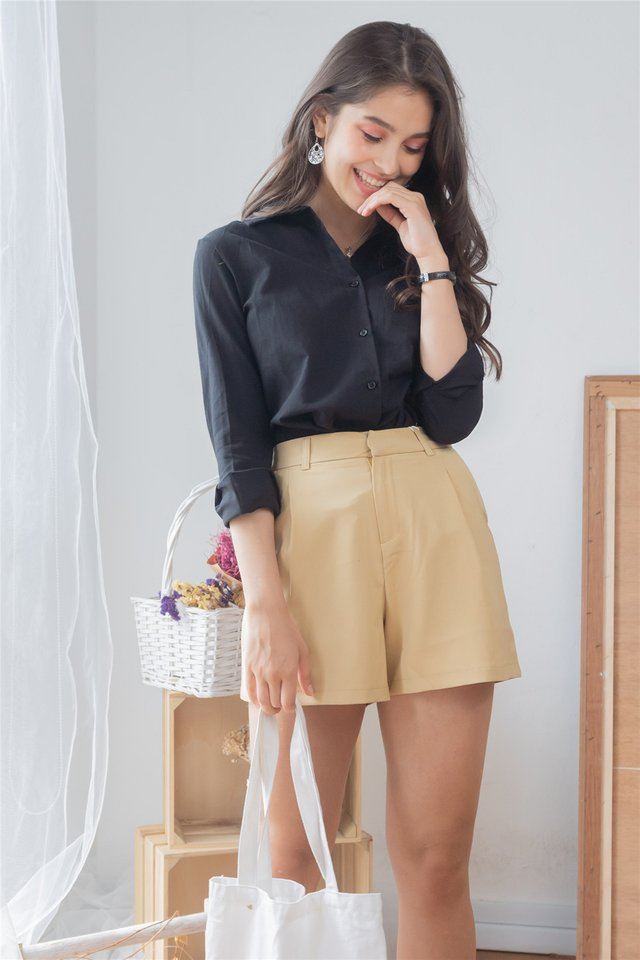 *BACK IN STOCK* High Waisted Pocket Shorts in Daffodil