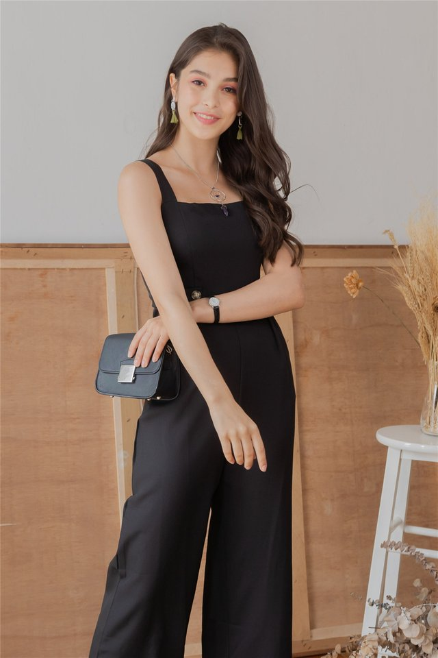 *BACK IN STOCK* Duo Button Jumpsuit in Black