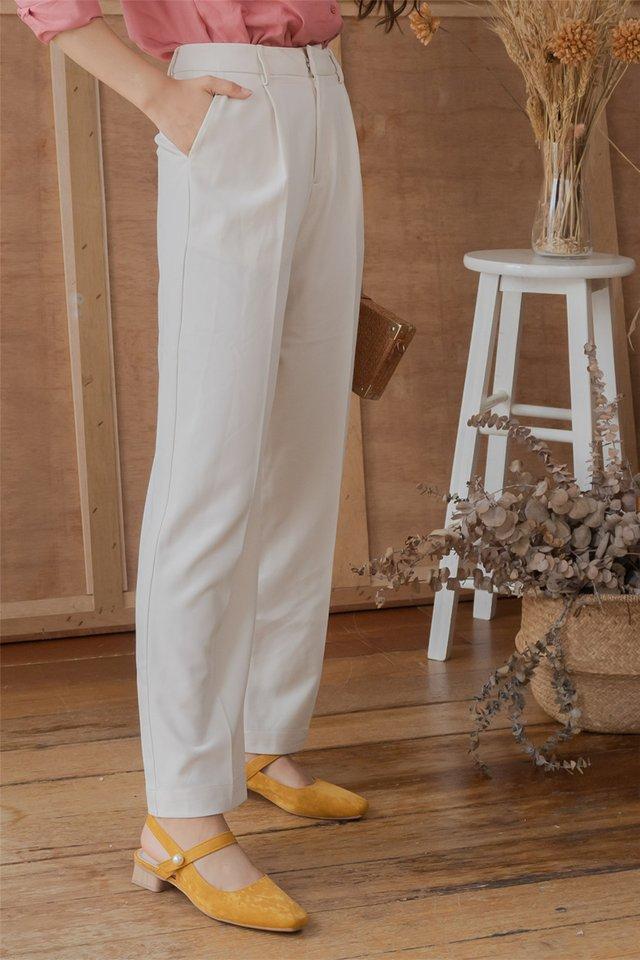 Pearl Loop Slingback Heels in Mustard