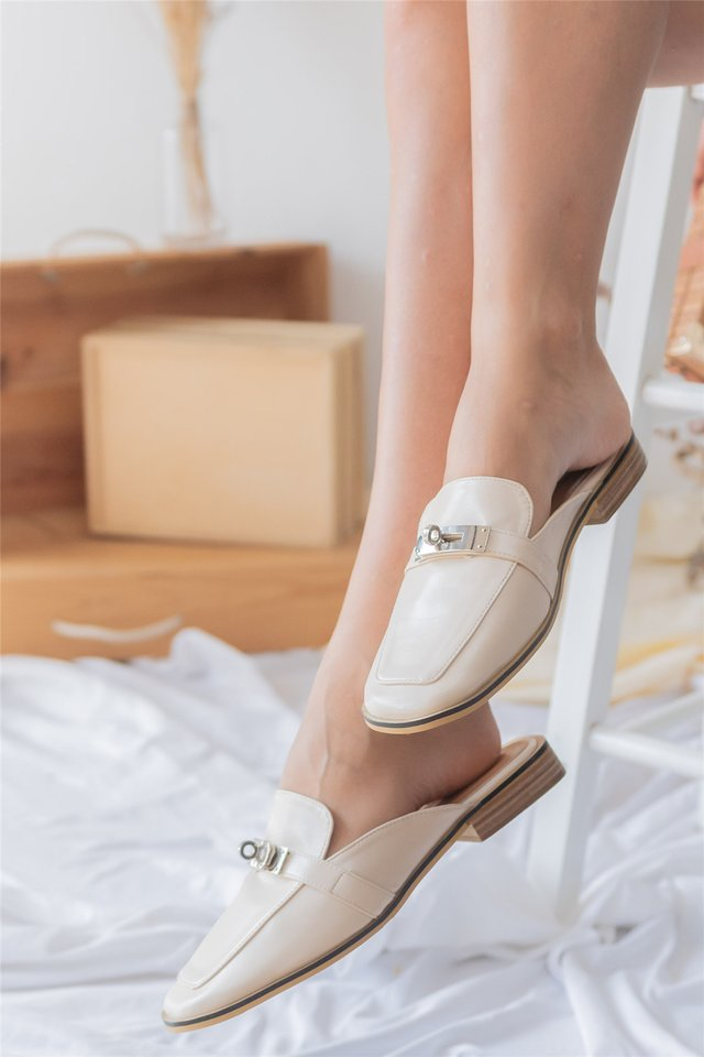 Interlock Buckle Loafers in Ivory