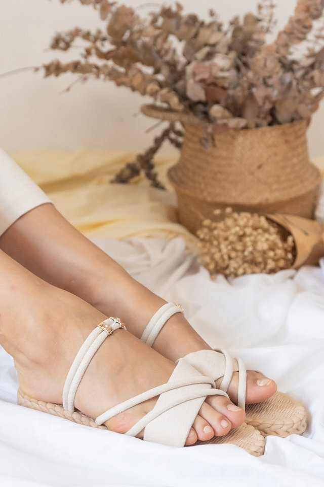 *Preorder* Weave Platform Sandals in Ivory