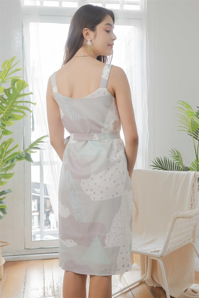 Two Way Marble Swirl Dress in Mint