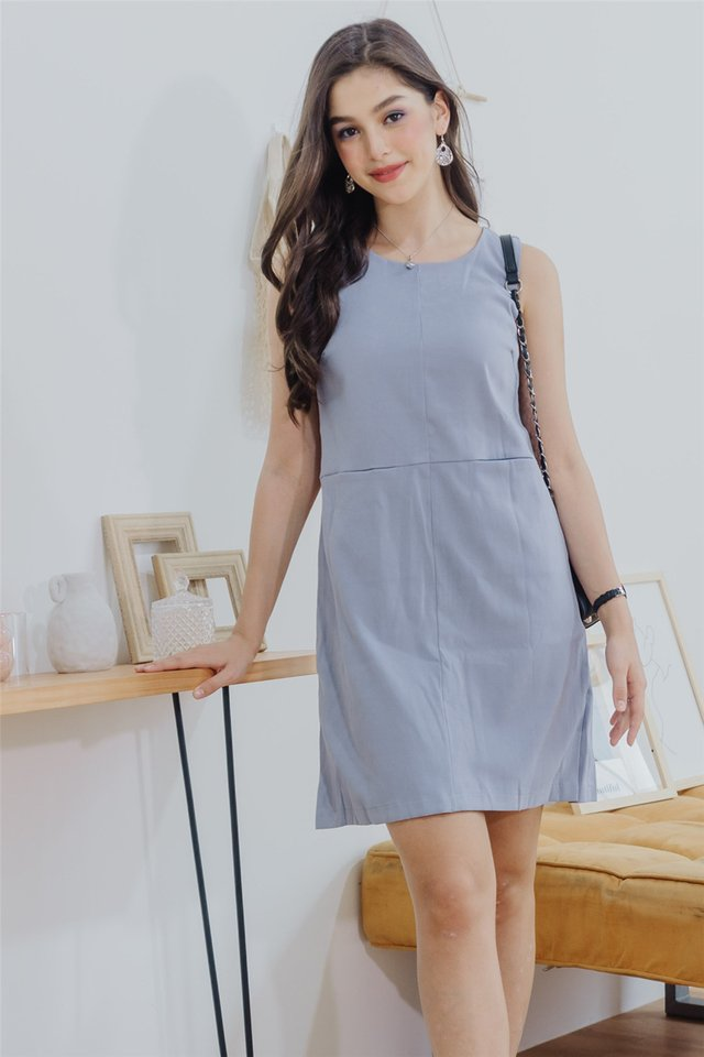 Double Pocket Shift Dress in Lavender