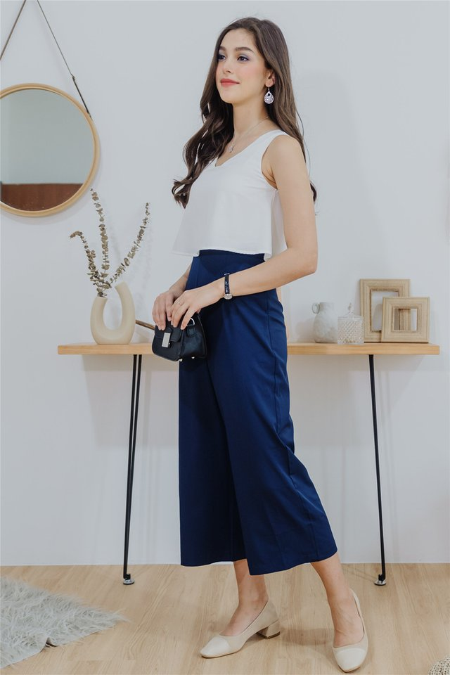 ACW Colourblock Layered Jumpsuit in Navy