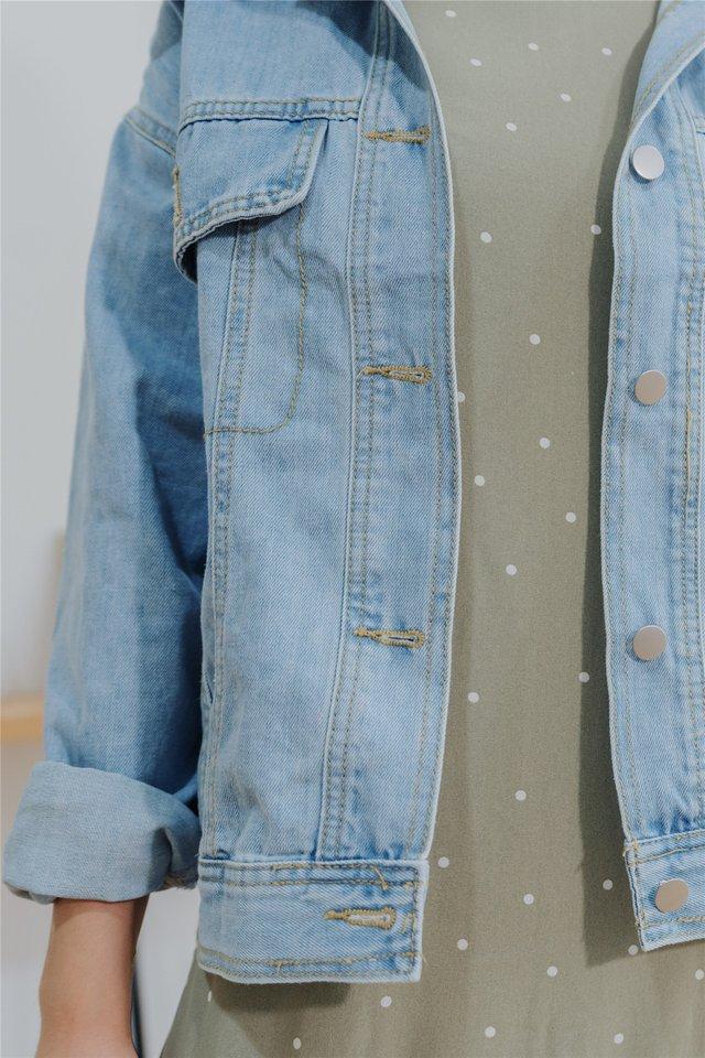 Oversized Light Wash Denim Jacket