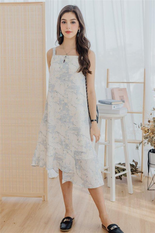 ACW Fade Marble Tiered Hem Midi Dress