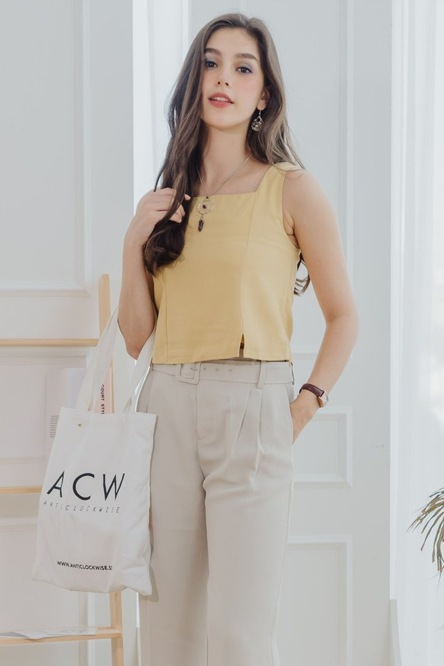 ACW Basic Square Neck Top in Daffodil