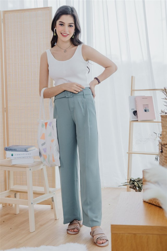 *Backorder 3* Basic Square Neck Knit Top in White