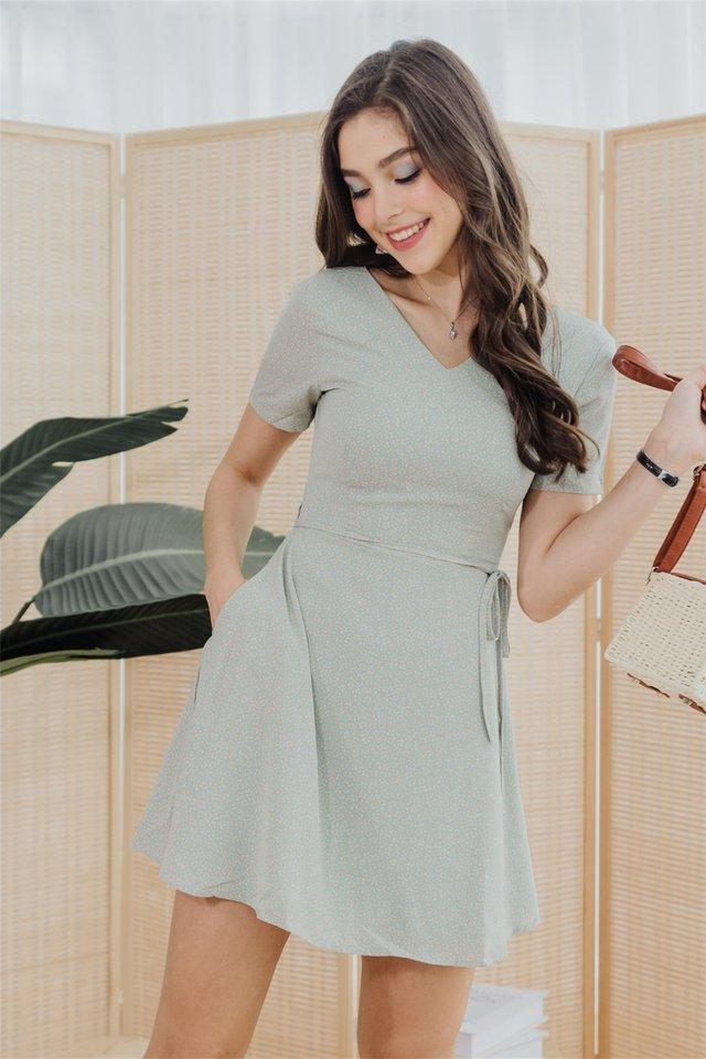ACW Mini Pastel Flora Swing Dress in Mint