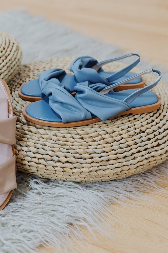 Twist Slingback Sandals in Blue