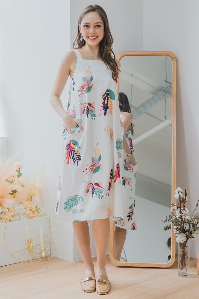 ACW Tropic Fauna Knot Back Midi Dress