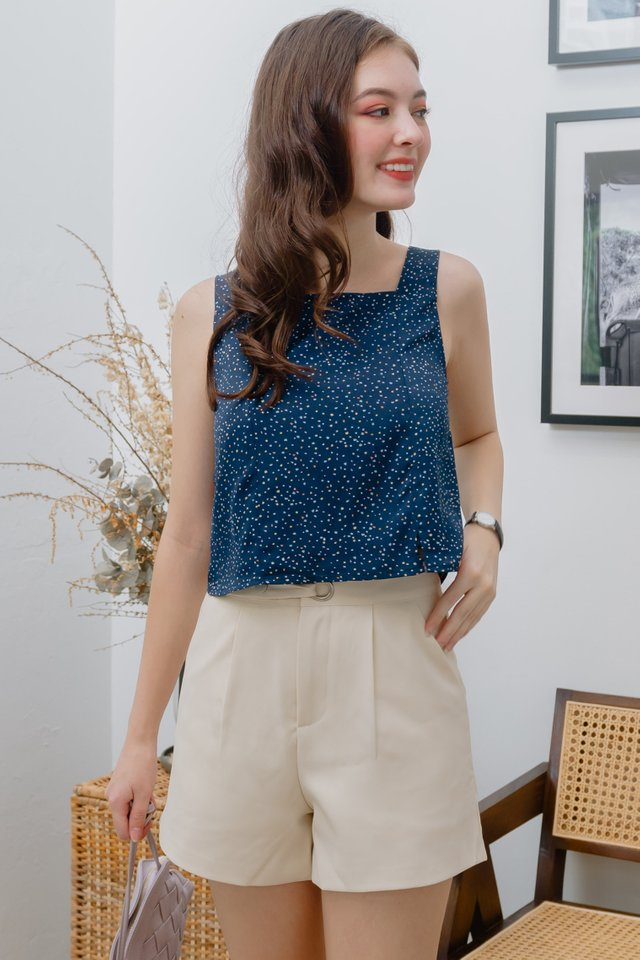 ACW Confetti Pop Square Neck Top in Navy
