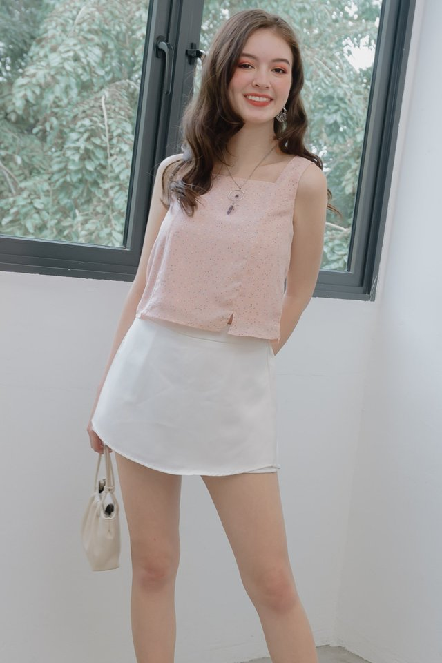 ACW Confetti Pop Square Neck Top in Blush