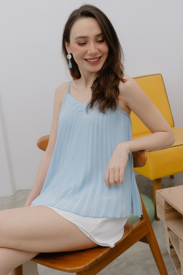 ACW Pleated Cami Top in Sky Blue