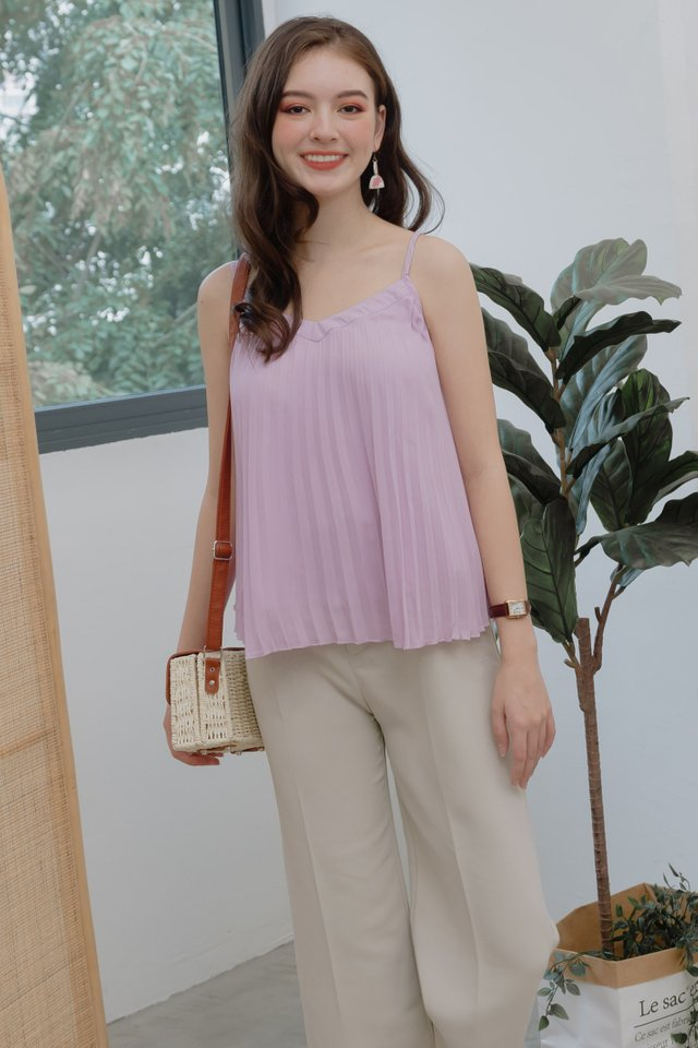 ACW Pleated Cami Top in Lavender