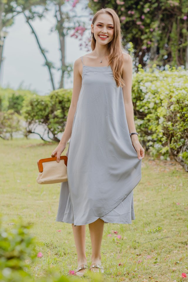 ACW Curve Overlap Midi Dress in Seafoam