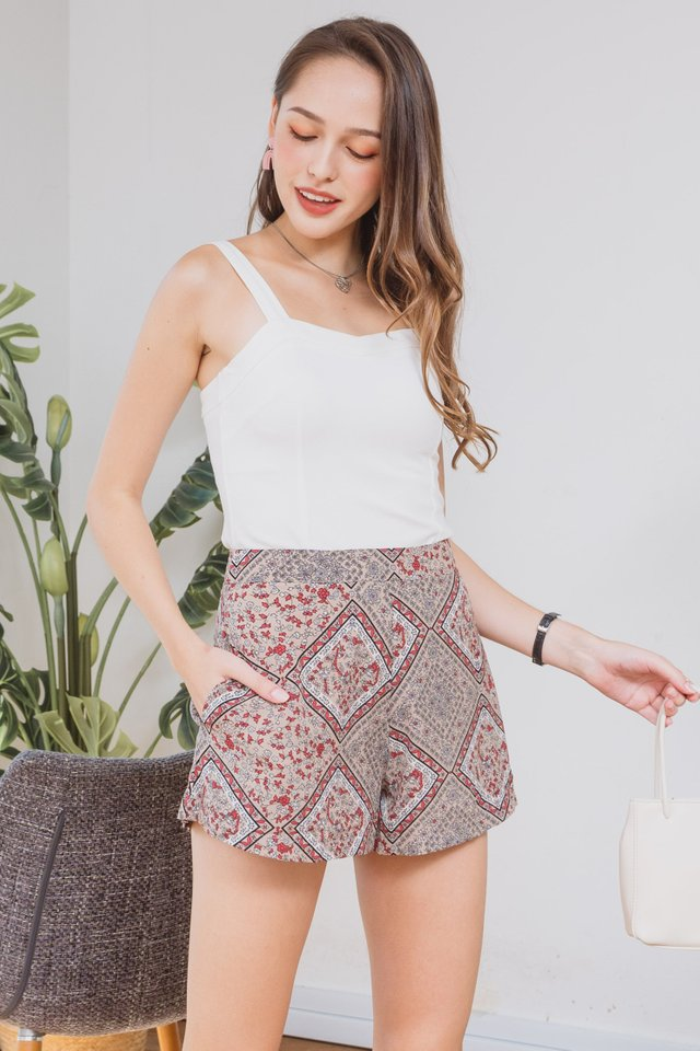 *BACK IN STOCK* ACW Batik Pocket Flare Shorts in Sand