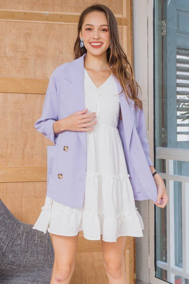 ACW Chiffon Oversized Blazer in Lavender