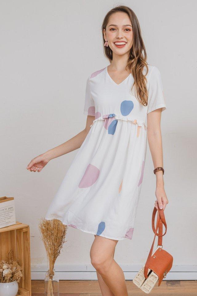 ACW Ruffle Babydoll Dress in Prints