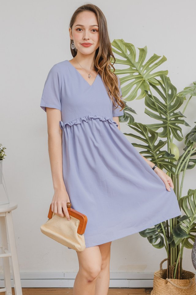 ACW Ruffle Babydoll Dress in Lavender