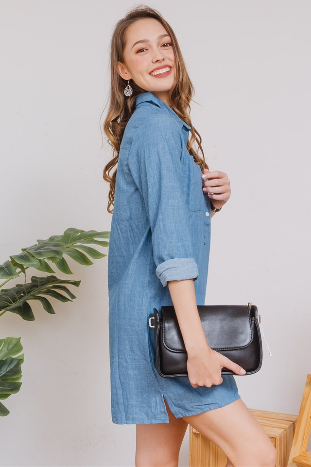 ACW Denim Button Down Shirt Dress