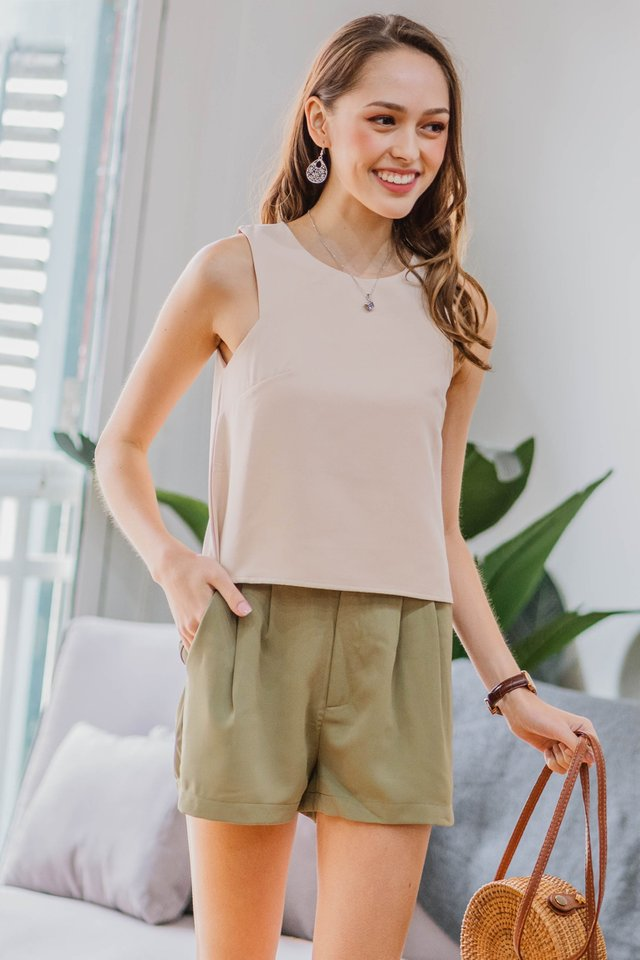 ACW Basic Cut In Top in Ecru