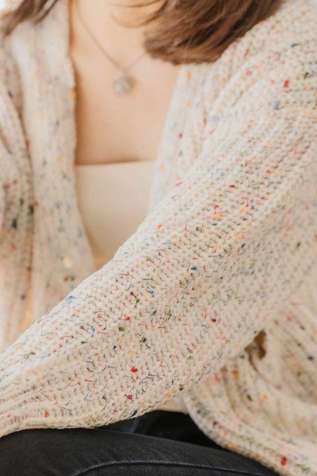 *BACK IN STOCK* Rainbow Speckle Knit Cardigan