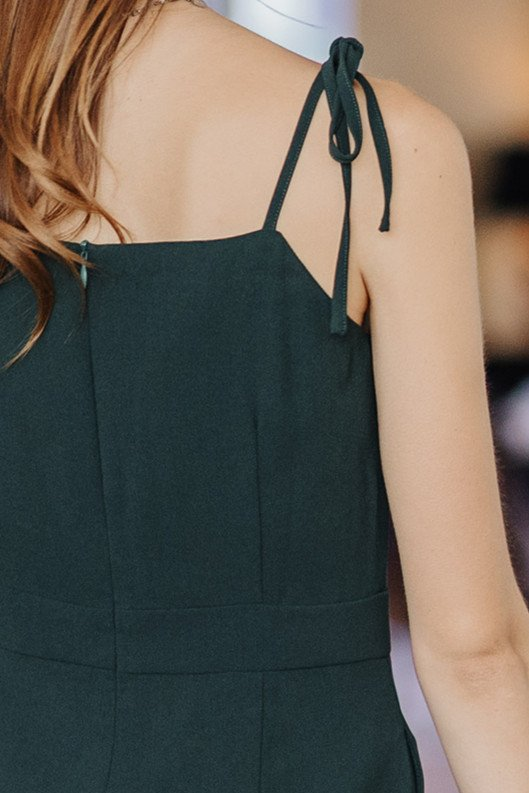ACW Tie Strap Jumpsuit in Emerald